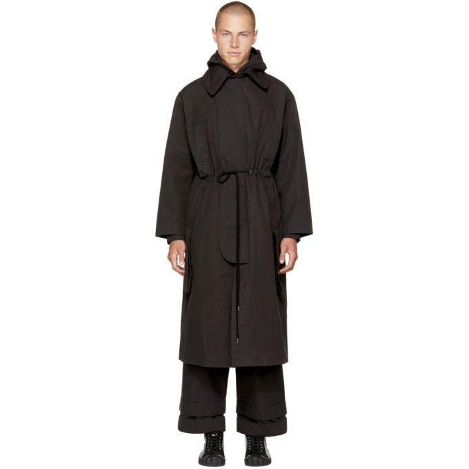 Craig Green Black Workwear Handle Coat Craiggreen Cloth Craig Green Men Craig Green Work Wear Coat