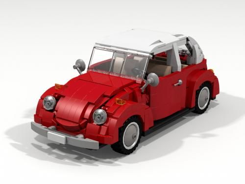 LEGO Set MOC-5300 Volkswagen Beetle - building instructions and ...