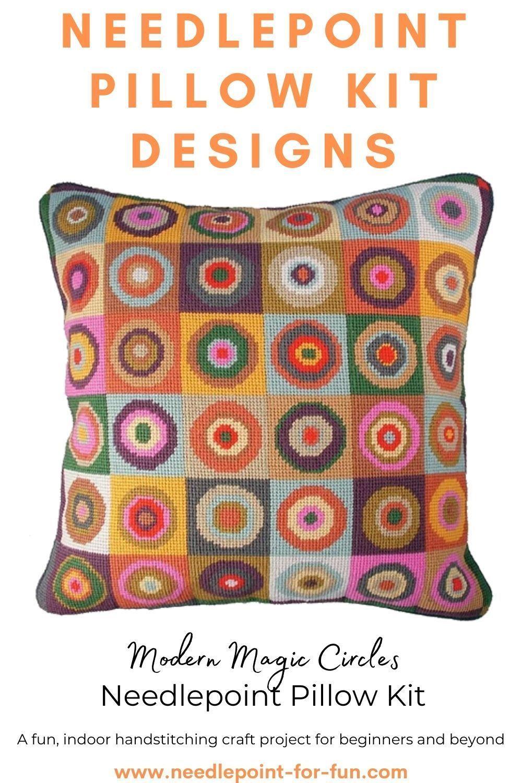 magic circles needlepoint pillow kits
