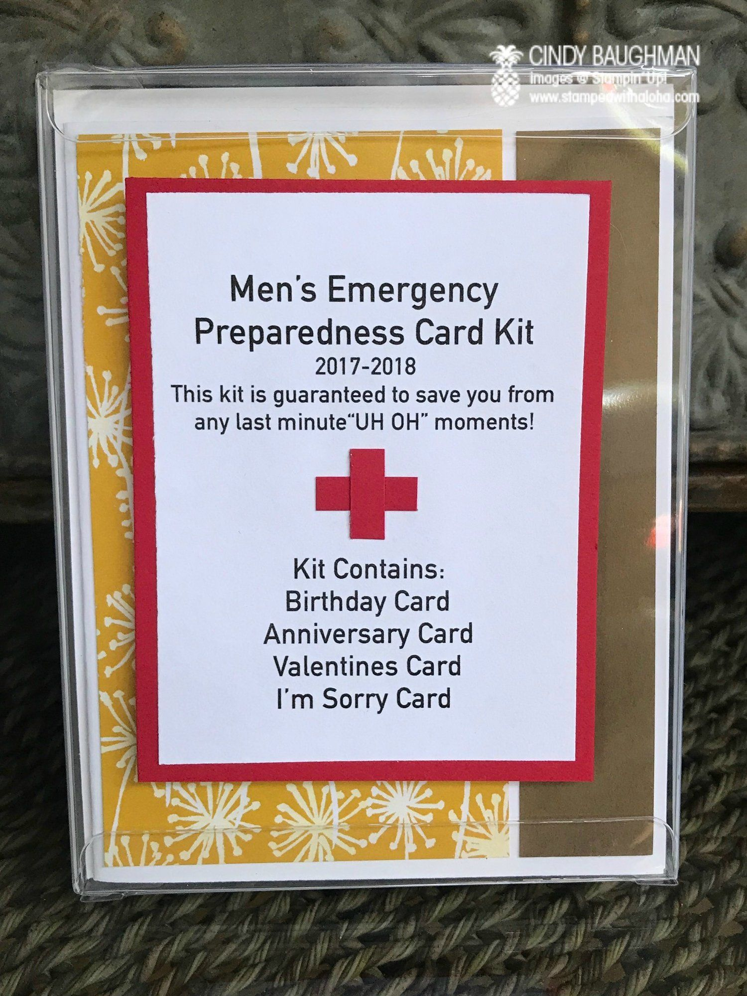 Emergency Card Kit - Such a cute idea for craft fairs, etc.