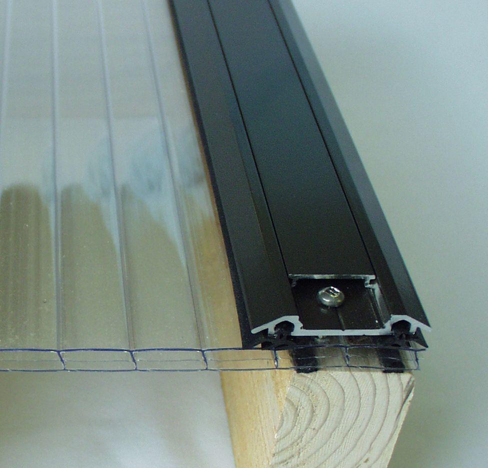 Aluminum Bar Caps Brown In 2020 Polycarbonate Roof Panels Polycarbonate Panels Pergola