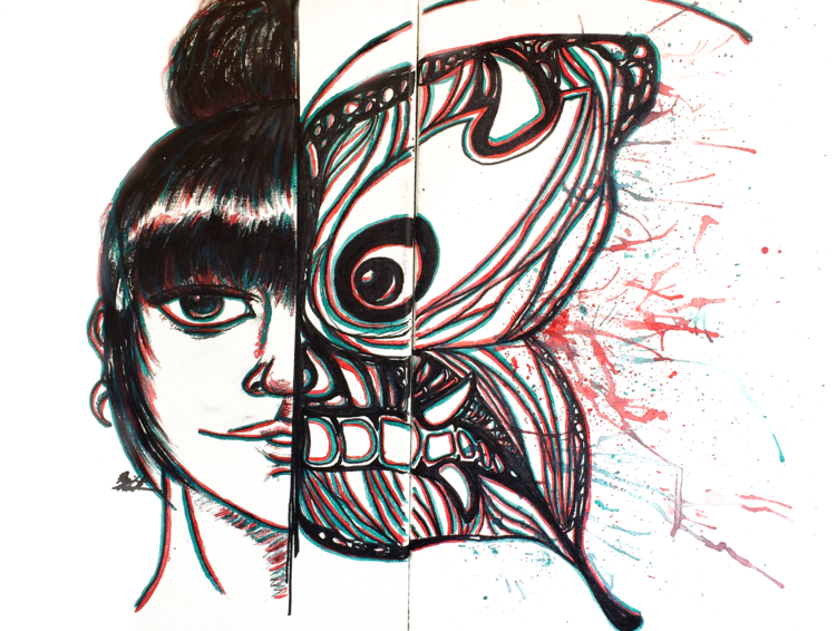 """""""Butterfly Effect"""" Sketches, Art, Humanoid sketch"""