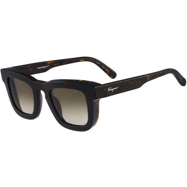 688232a1749 Salvatore Ferragamo Runway Plastic Sunglasses ( 365) ❤ liked on Polyvore  featuring mens