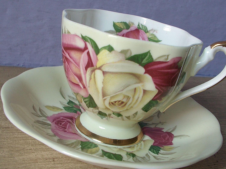 Royal albert bone china tea cup amp saucer winsome pattern ebay - Antique Tea Cups Google Search