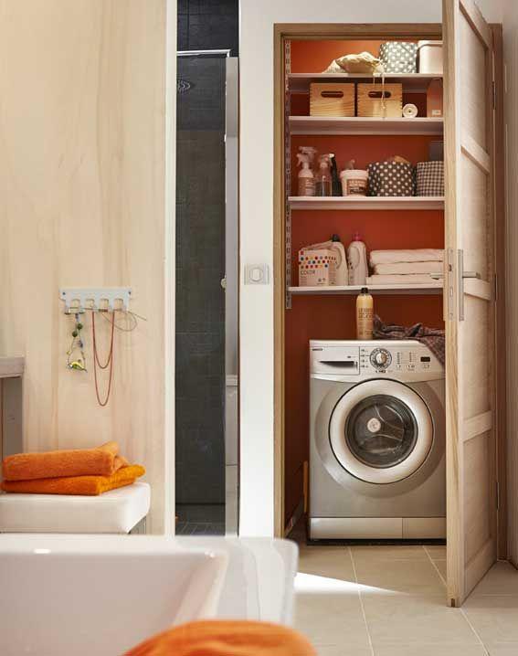 Une salle de bains familiale deux-en-un I Styles de bain buanderie
