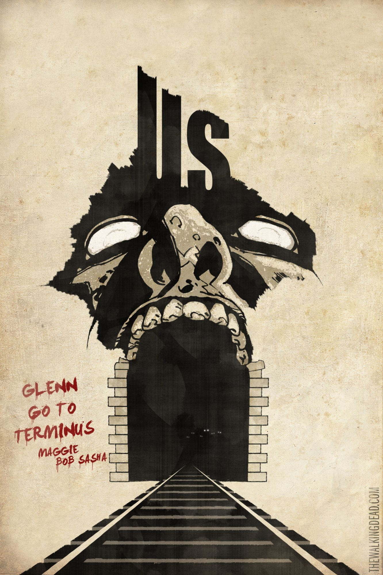 Us The Walking Dead Episode Poster Twd Terminus Design