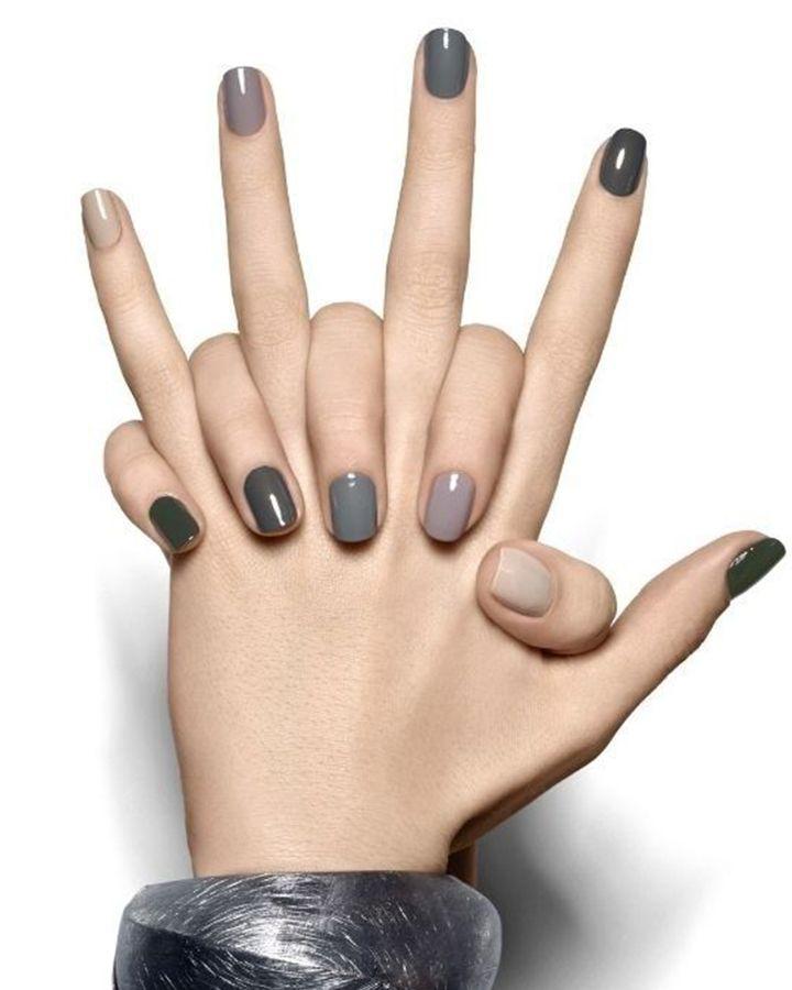 Winter Nail Color - Gray   Winter nail colors, Winter nails and Winter