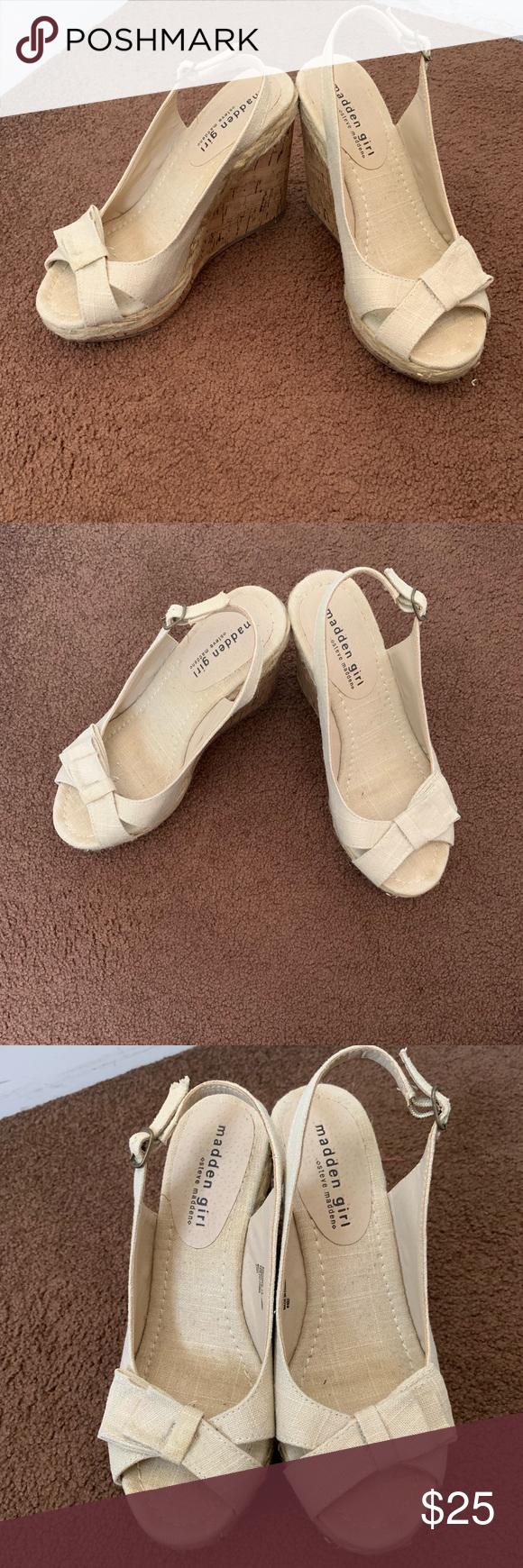 Madden girl shoes, Tan wedges, Wedge heels