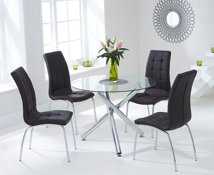 Orino 100cm Glass Dining Table with Calgary Chairs. | Our Brand New ...
