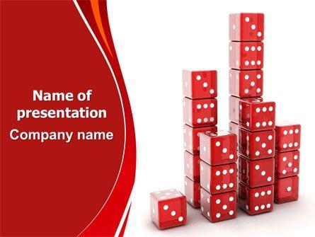 wwwpptstar powerpoint template dice-bar-chart  Dice - bar chart template