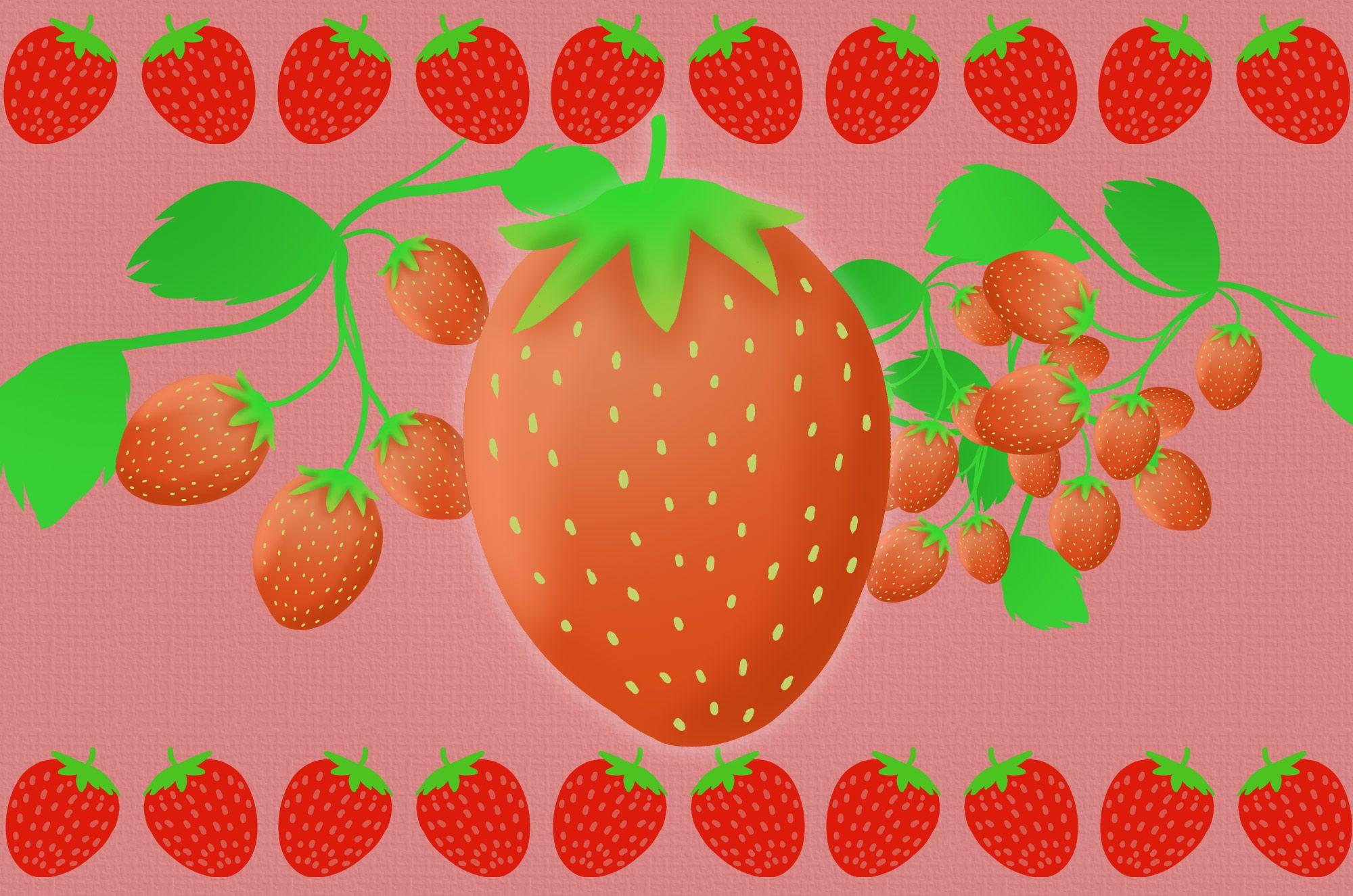 いちごイラスト かわいいシンプルなフルーツ無料素材 チコデザ いちご イラスト いちご フルーツ イラスト