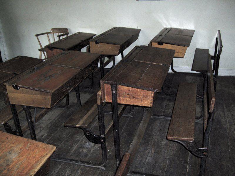 Old Irish School Desks images