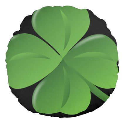 Four leaf clover reversible pillow - saint patricks day st patricks holiday ireland irsih special party