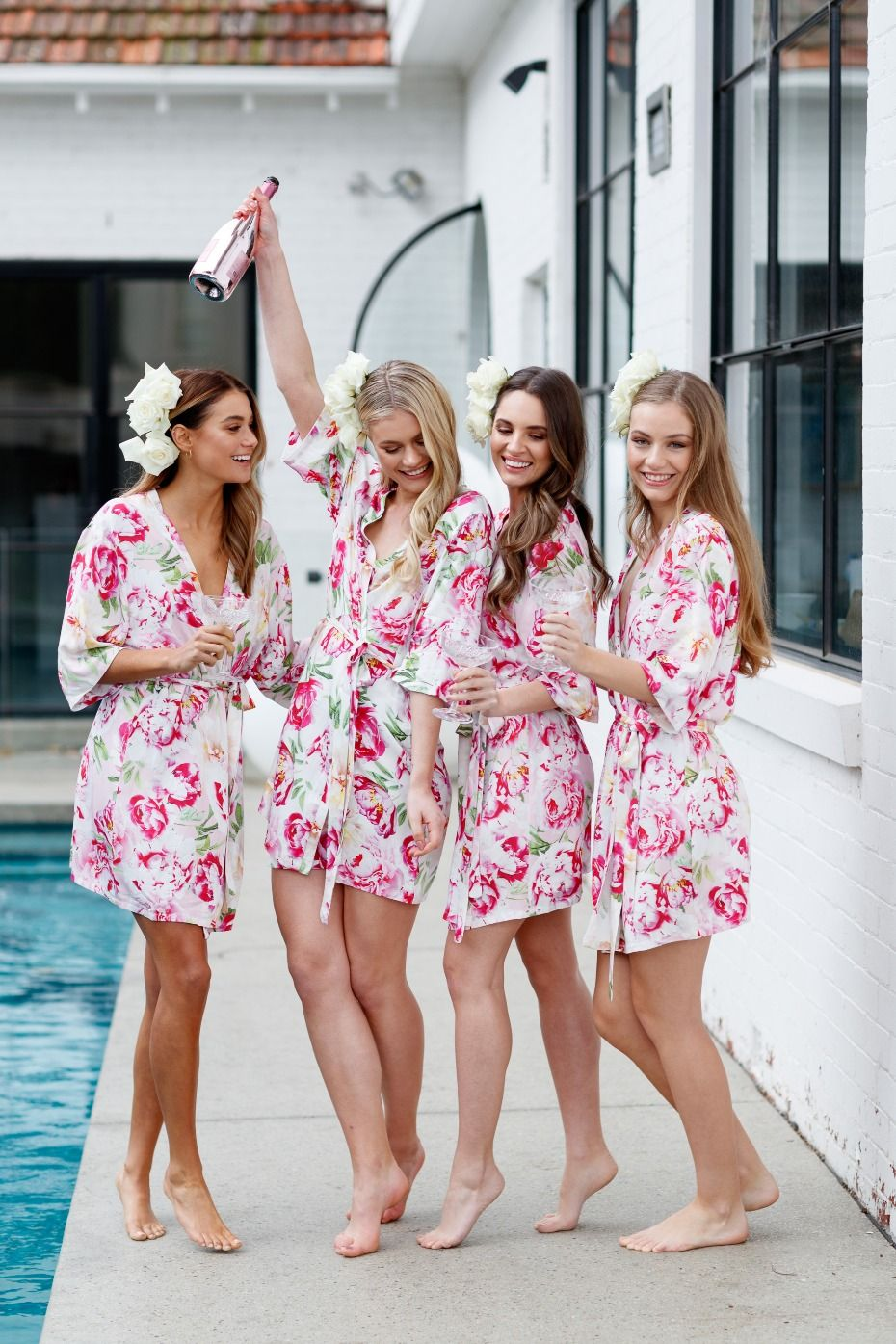Getting Ready Robes To Match Your Wedding Style Lace Bridal Robe Bridal Party Robes Bridal Robes