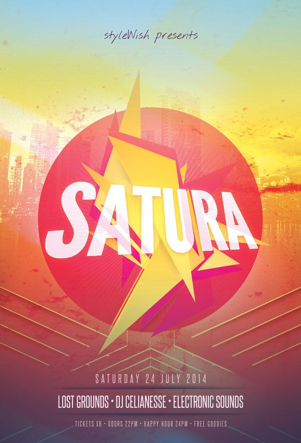 satura flyer by stylewish download psd file club flyer