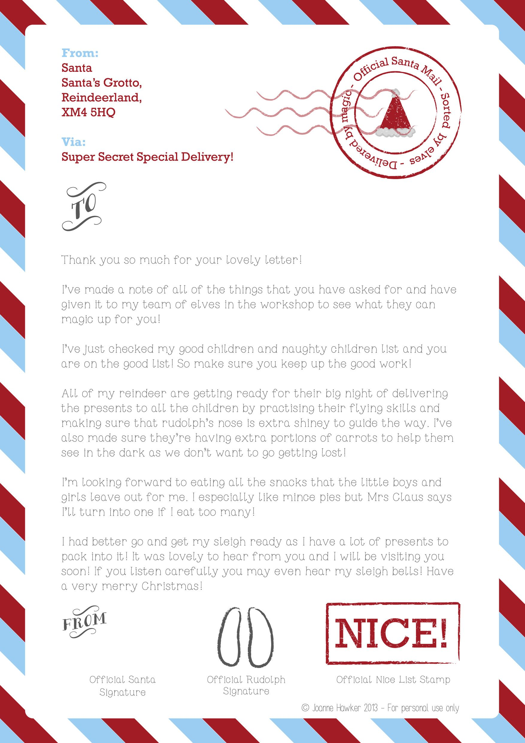 Letter From Santa | Christmas | Pinterest | Santa, Winter christmas ...
