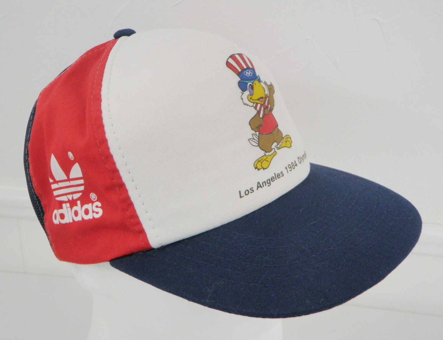 f1e88bbdebd Adidas Snapback Trucker Hat 1984 US Olympics Los Angeles Patriotic Eagle  Red White Blue Mesh Foam by TraSheeWomen on Etsy