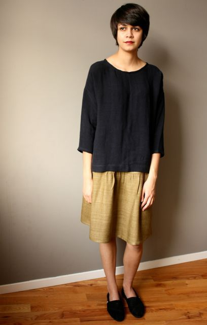 Coming soon to quotidienne: modaspia skirt in silk tussah (great year-round piece).