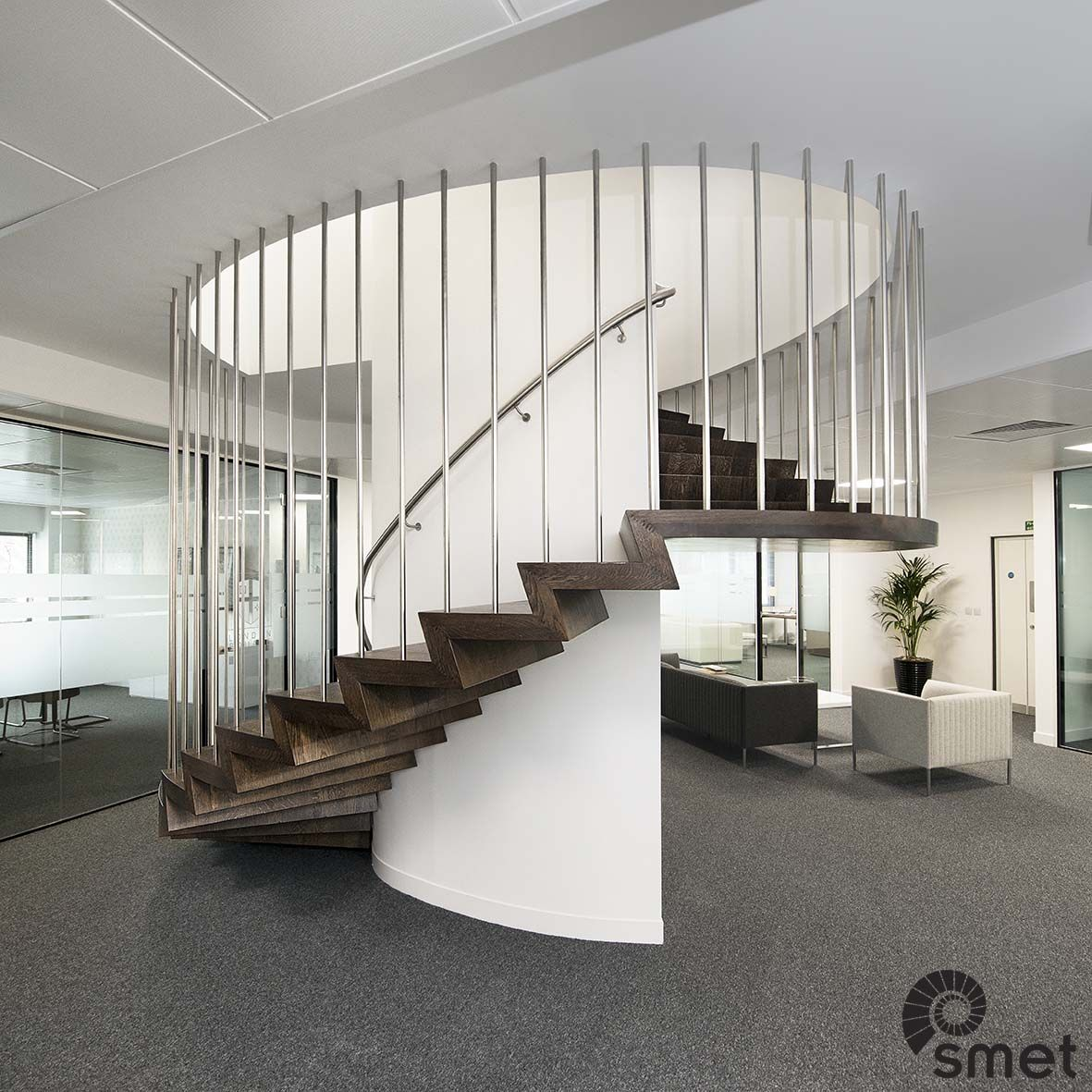 Best A Completely Bespoke Staircase Design For This Office In 400 x 300