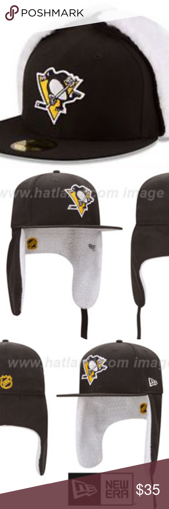 600d6db3dd7d97 New Era Pittsburgh Penguins Dogear Cap 7.5 NWT New Era 59FIFTY NHL Pittsburgh  Penguins Flurry