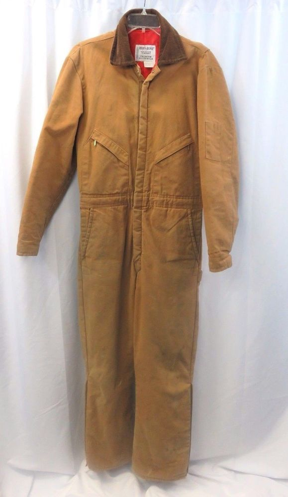 Walls Zero Zone Coveralls Jumpsuit Sz Xl Insulated One Piece