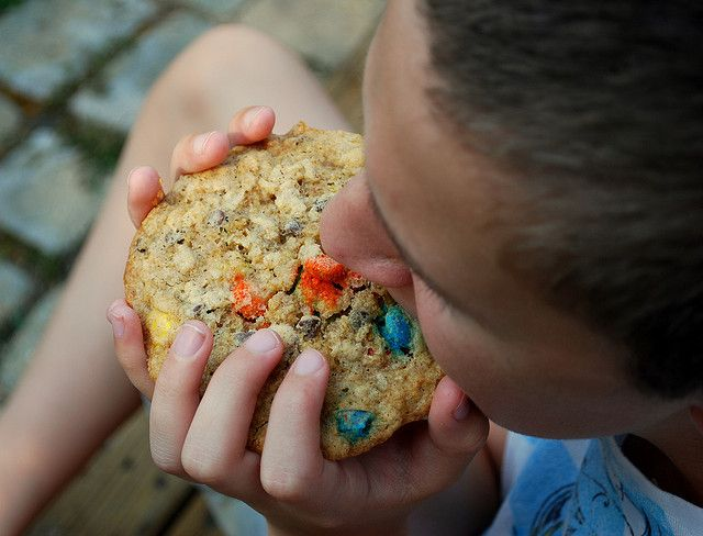 Trail Mix Freezer Cookies by thecuttingedgeofordinary as adapted from William Sonoma Family Meals: Tuck them frozen into a school lunch sack where they'll be thawed by lunchtime and keep the sandwich cool too!  #Freezer_Cookies #Trail_Mix #thecuttingedgeofordinary