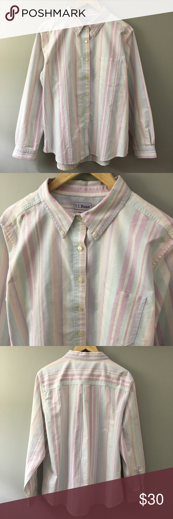 8af210fc6d Women's L.L. Bean Pastel Stripe Button Up Shirt Women's L.L. Bean Pastel Stripe  Button Up Shirt Size XL Reg Like New! L.L. Bean Tops Button Down Shirts