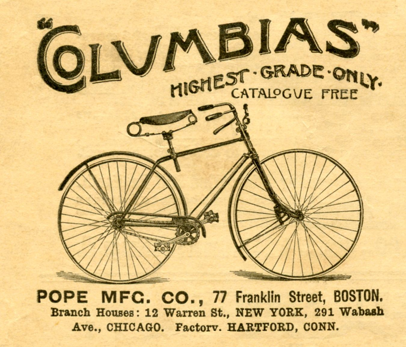 Vintage Advertising Clip Art - Antique Bicycle | Antique bicycles ...