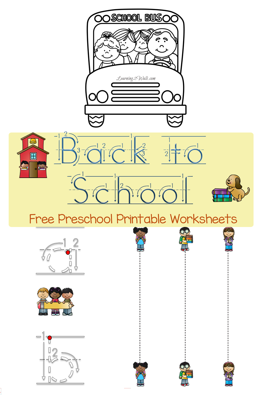 Free Back to School Preschool Printable Worksheets – Printable School Worksheets