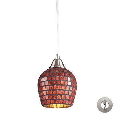 Beachcrest Home Roehampton 1 Light Mini Pendant Shade Color: Copper