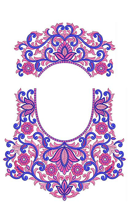 Latest indian back neck blouse embroidery designs