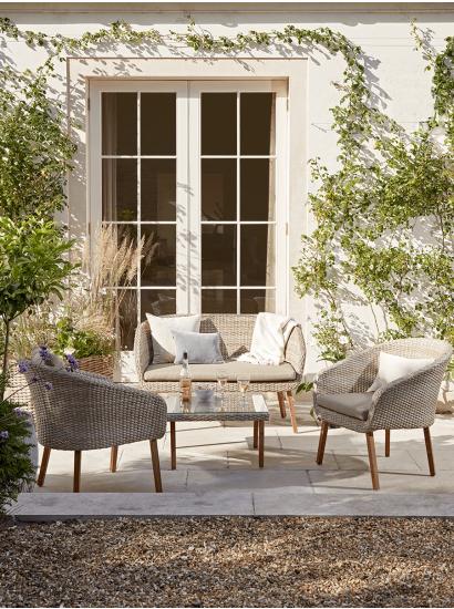 New Rimini Lounge Set Outdoor Furniture Sets Outdoor Furniture Decor Rattan Garden Furniture