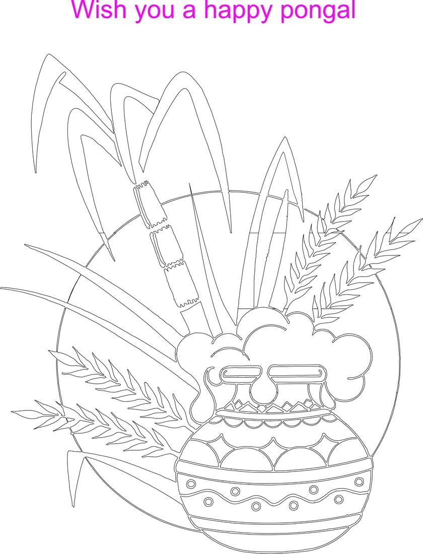 pongal pictures colouring