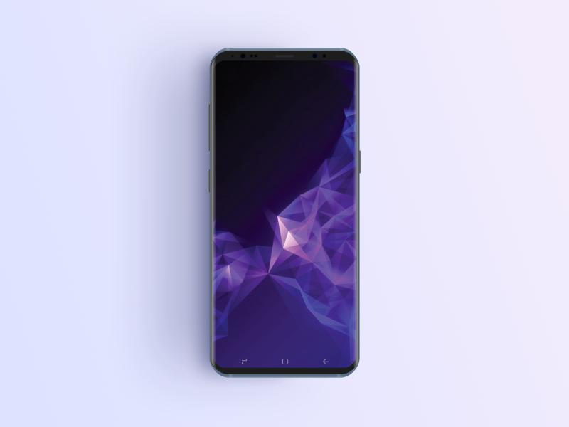 Clean Realistic Samsung S9 Phone Mockup Phone mockup