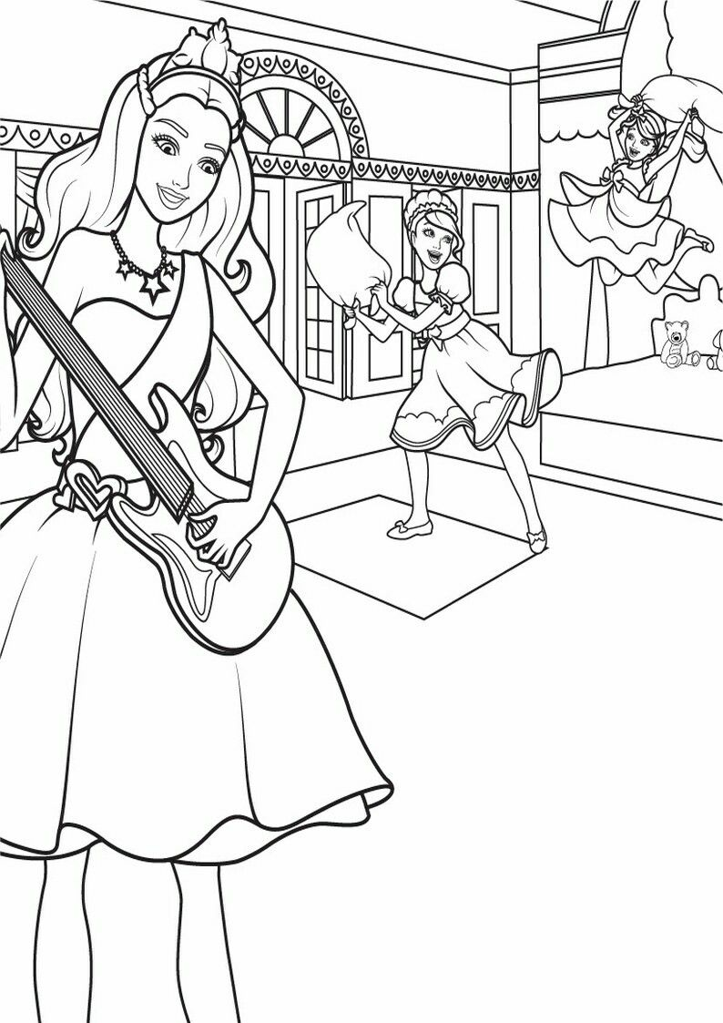 Pin By Renata On Barbie Coloring Barbie Coloring Barbie Coloring Pages Barbie