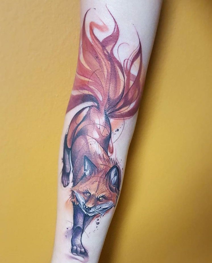 nine tailed fox jorell elie at outer limits tattoo long beach ca
