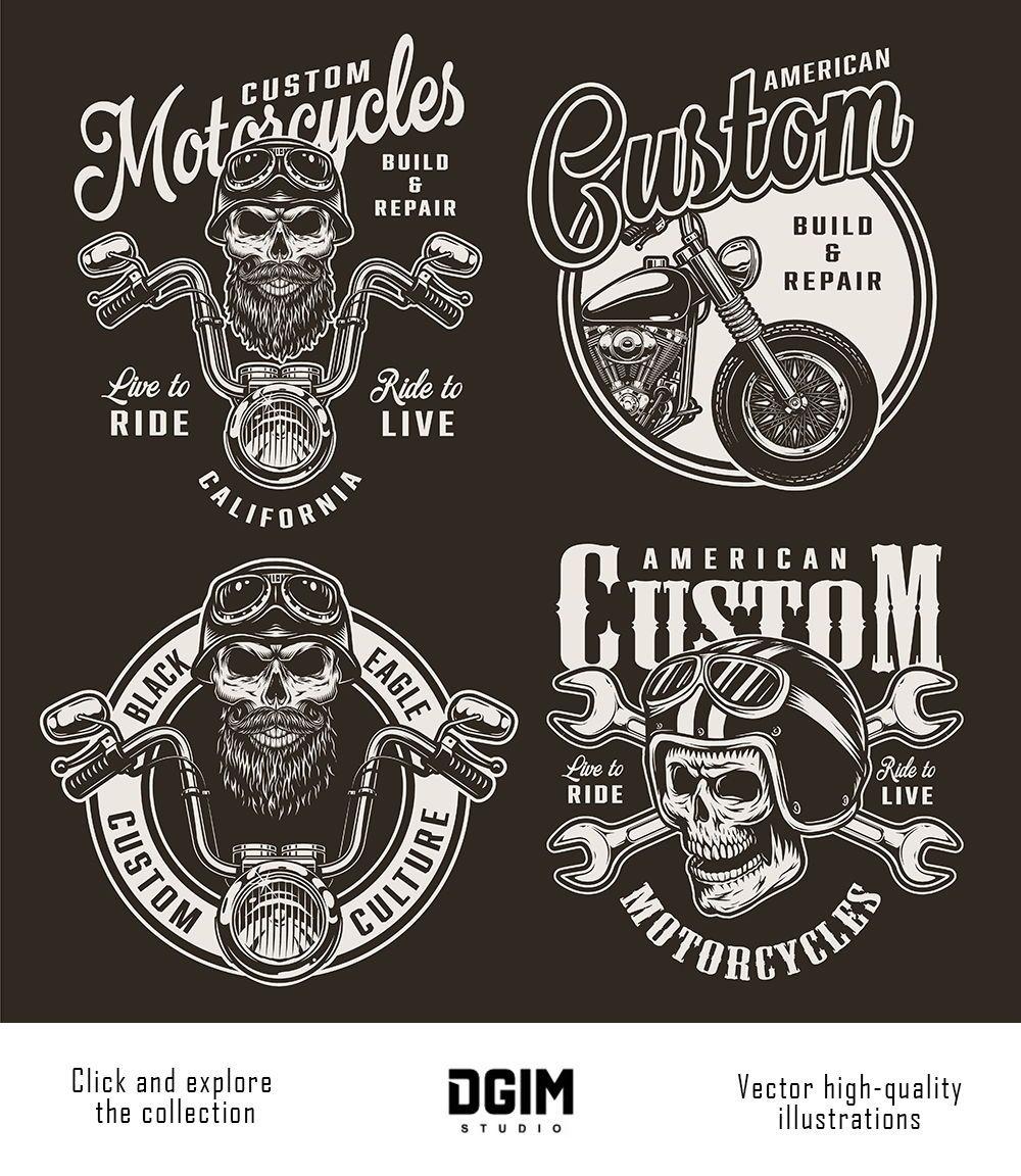 37 Vintage Custom Motorcycle Emblems Custom Motorcycles Bobber Motorcycle Logo Motorcycle Design