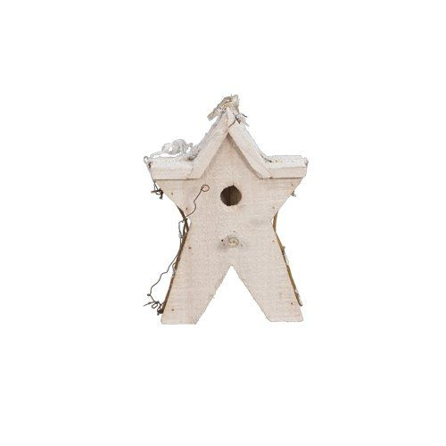 """Fantastic Craft Snow Star Birdhouse, 8-Inch. Measures 9""""x9""""x20"""". Use as a decorative indoor accent piece for any room. Adds a touch of homey-ness to any door or entryway. With natural colors and texture to create a 3 dimensional design come to life. Great housewarming gift for family, friends, neighbors and acquaintances."""