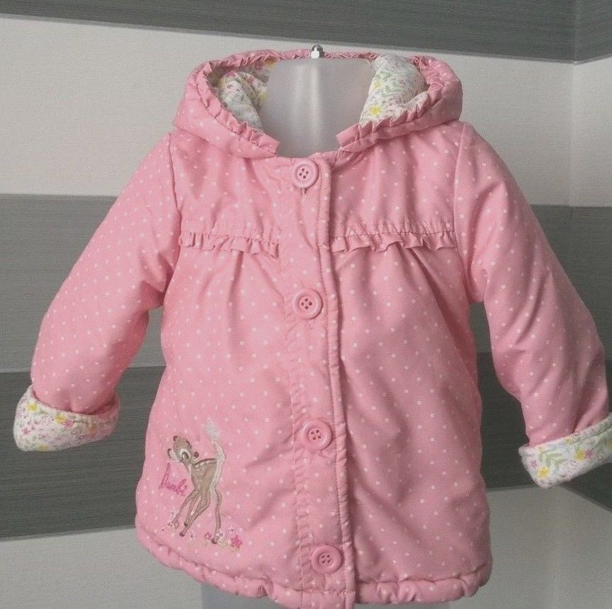 d95865c9e Baby Girls Disney Bambi Coat With Hood 12-18 months  Disneygeorge ...