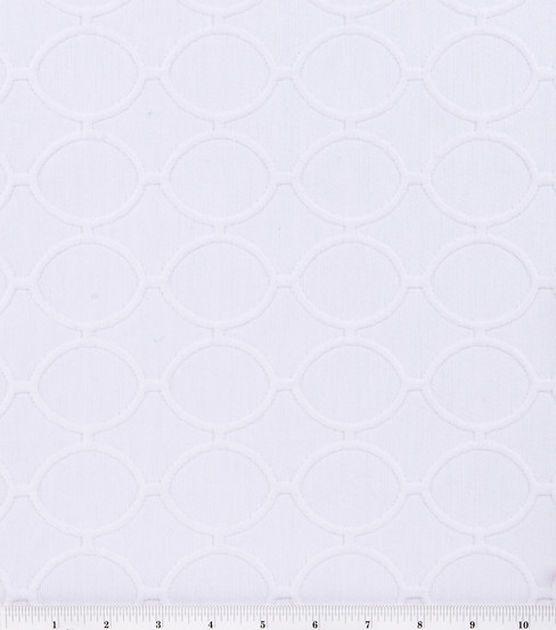 Home Decor FabricDwellStudio® Cameo Ovals Bleached White