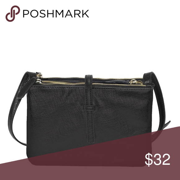 Triple Zip Detachable Pouches Crossbody Bag This chic bag has three zippered  compartments.When the three compartments are all snapped together