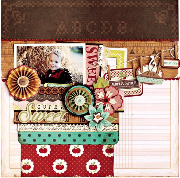 Layering magic by Christine Middlecamp using the NEW Farmhouse collection from @CratePaper.