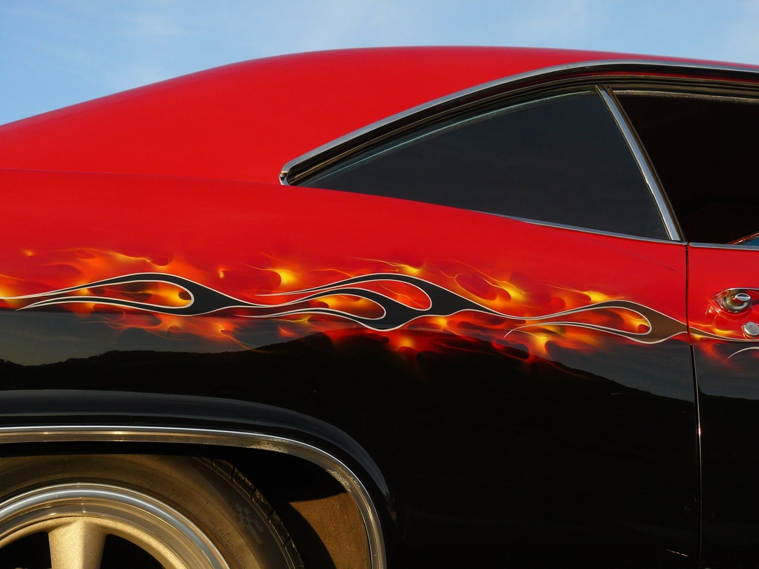 Images Of Cars Painted With Flames
