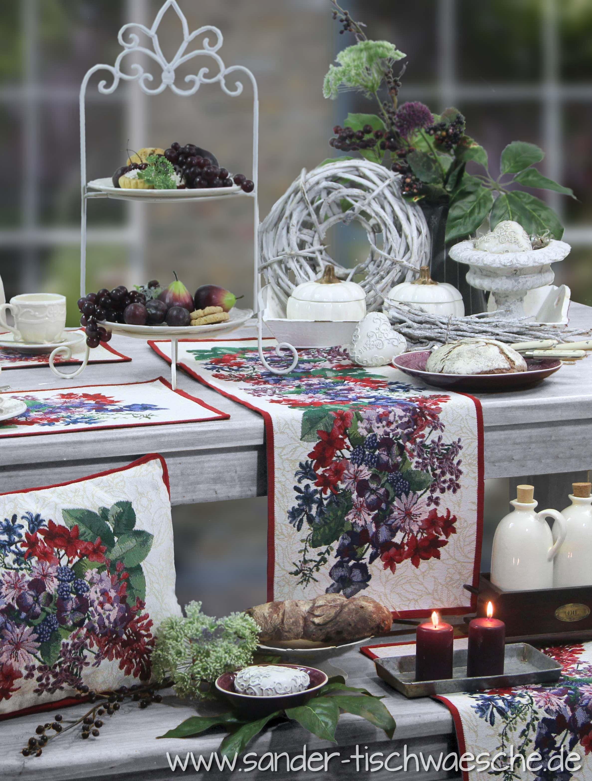 Herbstlich gedeckter Tisch mit der Serie COVENTRY von Sander ...