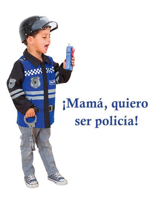6788bd695 Disfraz de policía para niños y niñas | jjj | Disfraz policia ...