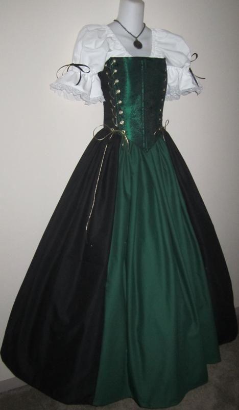 Skull Corset Gown $180 #chemise #bodice #medieval #renaissance #corset #pirate #skulls #steampunk