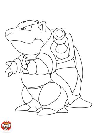 Coloriage tortank de profil dessin coloring pages pokemon pictures et adult coloring pages - Profil dessin ...