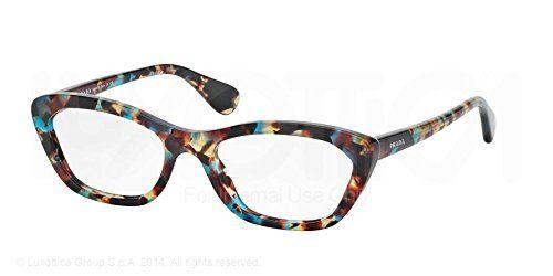 b4e424880561 Prada PR03QV Eyeglasses-NAG/1O1 Havana Spotted Blue-52mm | Things I ...