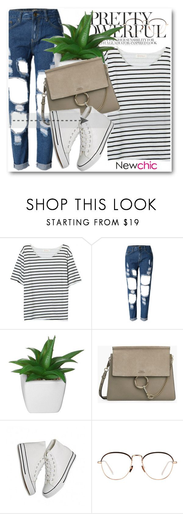 """NewChic Style!"" by dianagrigoryan ❤ liked on Polyvore featuring Linda Farrow"