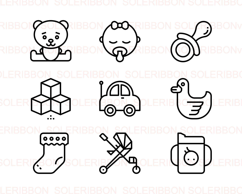 36 Baby Icons Newborn Designs Svg Psd Eps Png Etsy Baby Icon Illustration Program Svg